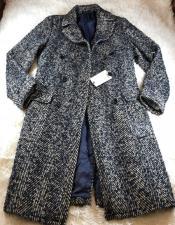 Overcoat - Herringbone Overcoat - Black and White Topcoat