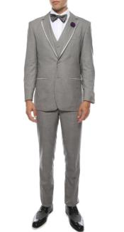 PromTuxedo-WeddingTuxedoCelioGrey3-PieceSlimFit