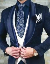 Velvet Suits Paisley Suit - Midnight