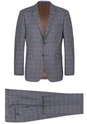 RenoirMarinoSlimFitSuitStyle#PlaidSuit-Checkered