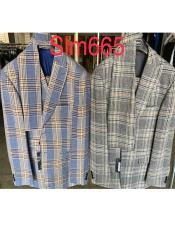 Mens Plaid Suit - Checkered Suit