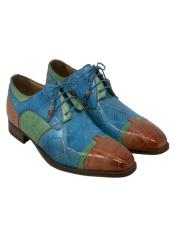 Mauri Alligator Leather Blue Green and