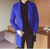 Royal Blue Wool Overcoat By Alberto