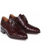 Mauri Exotic Skin Shoes Burgundy