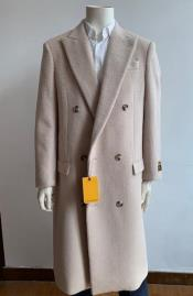 Double Breasted Overcoat - Wool Top