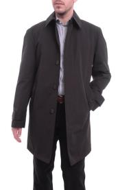 Mens Trenchcoat Solid Black