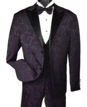 Mens Two Button Paisley Fashion Tuxedo