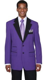 Mens Two Button Colorful Tuxedo Purple