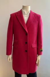 Mens Pink Overcoat - Megento Color