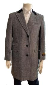 Mens Overcoat - Wool and Cashmere