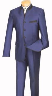 Banded Collar Suit - Mandairn Suit