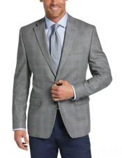 Charcoal Grey Blazer - Plaid Gray