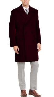 Double Breasted Three Quarter Overcoat -
