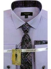 Mens Lavender Dress Shirts with Tie