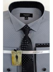 Mens Grey Dress Shirts with Tie