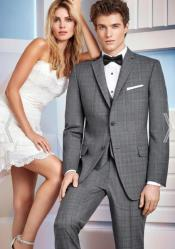 Grey Wedding Suit - Vested Slim