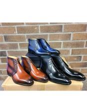 Mens KB509-11 Carrucci Leather Chukka Boots