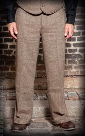 Mens Herringbone Wool Pants - Tweed