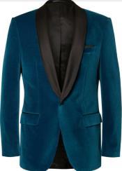 Teal Tuxedo - Velvet Dinner Jacket
