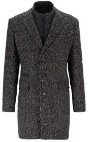 Single Breasted Slim-Fit Herringbone Coat