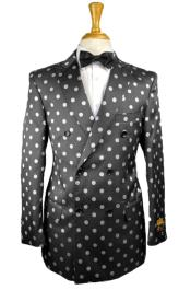 Double Breasted Blazer Polka Dot Blazer