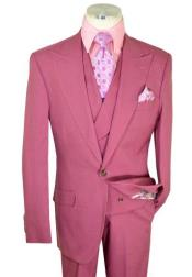 Mens Slate Solid Raspberry Pink Single
