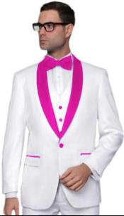 Hot Pink Tuxedo - Prom Pink