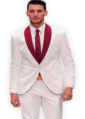 Red and White Lapel Tuxedo