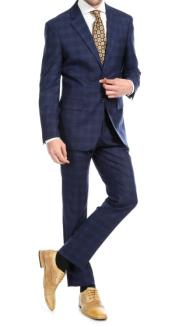 Mens 2pc Premium Wool Slim Fit