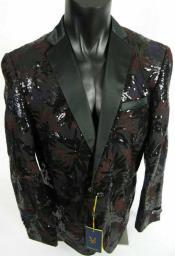 Mens Burgundy Tuxedo - Burgundy Blazer