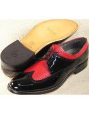 Mens Stacy Baldwin Lizard Wingtip Shoes