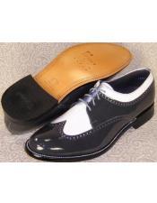 Mens Stacy Baldwin Spectator Shoes Grey