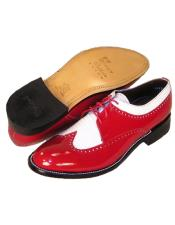 Mens Stacy Baldwin Spectator Shoes Red