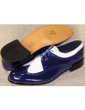 Mens Stacy Baldwin Spectator Shoes Royal