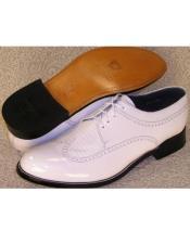 Mens Baldwin Wingtip Oxford Shoes White