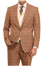 Mens Suit 3 Piece Plaid and