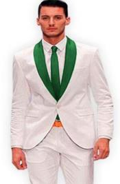 White and Hunter Green Tuxedo +