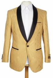 Mens Mustard Yellow Blazer - Mens