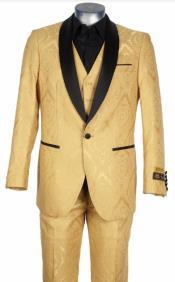 GoldSuit-GoldTuxedo-Vest+Jacket+