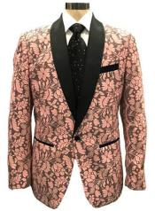 Mens Pink Blazer - Paisley Blazer