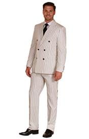 Mens Double Breasted Suit Off-white
