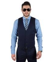Mens Dark Blue Vest