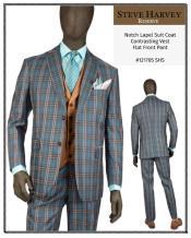Steve Harvey Suits Gray ~ Brown