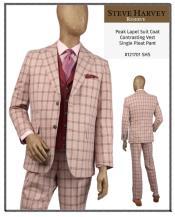 Steve Harvey Suits Light Rose