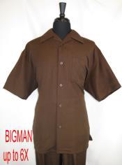 Style#FortinoLandiM2954Shirt+PantSetBrown