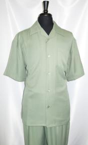 Style#FortinoLandiM2954Shirt+PantSetGreenLt