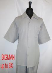 Style#FortinoLandiM2954Shirt+PantSetGrey