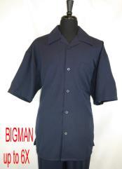 Style#FortinoLandiM2954Shirt+PantSetNavy