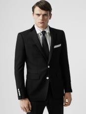 Black Blazer with White Buttons -