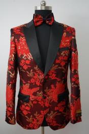 MensFlowerTuxedo-FloralBlazer-FashionColorfulSport